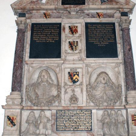 Monument to the Watton family erected 1651 Addington Kent