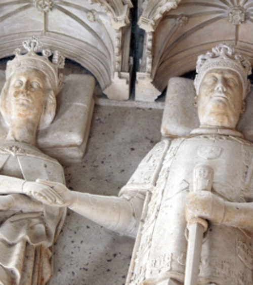 The joint tomb of João I of Portugal d 1433 and his queen Philippa of Lancaster d 1415 02