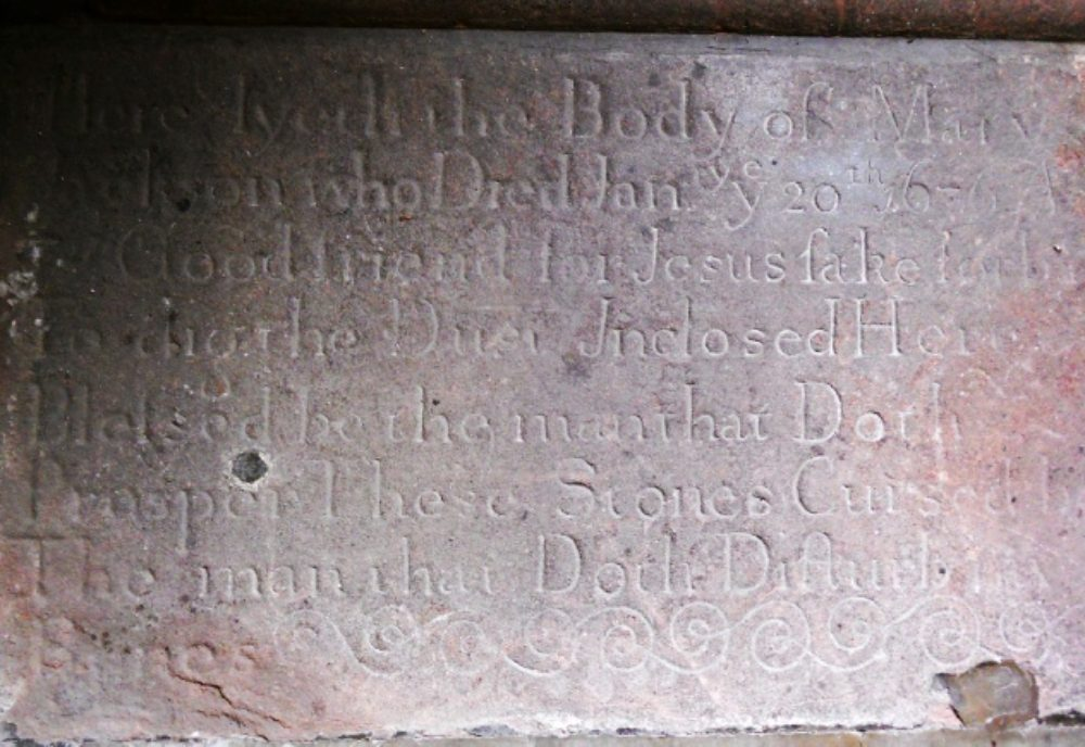 The ledger to Mary Jackson d Jan 20 1676 at Allesley Warwickshire and the grave of William Shakespeare Fig 1