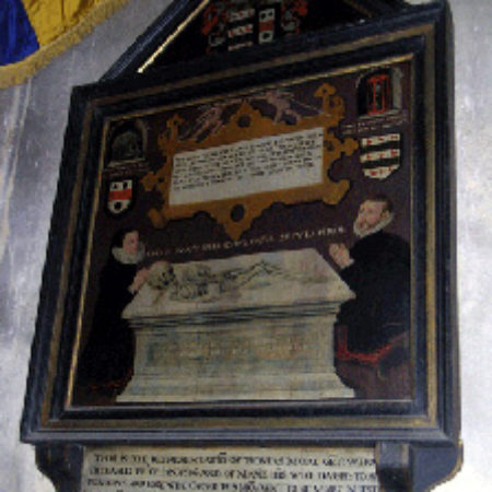 Thomas More d 1586 and his widow Marie at Adderbury Oxfordshire