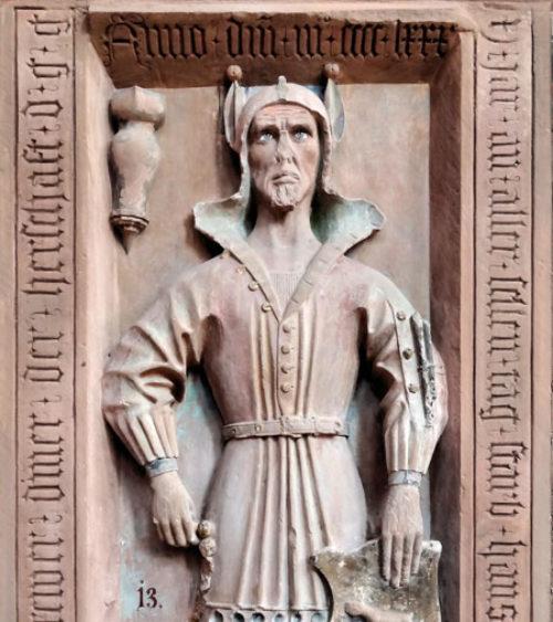Tomb Slab of Hans Has Kilianskapelle Wertheim