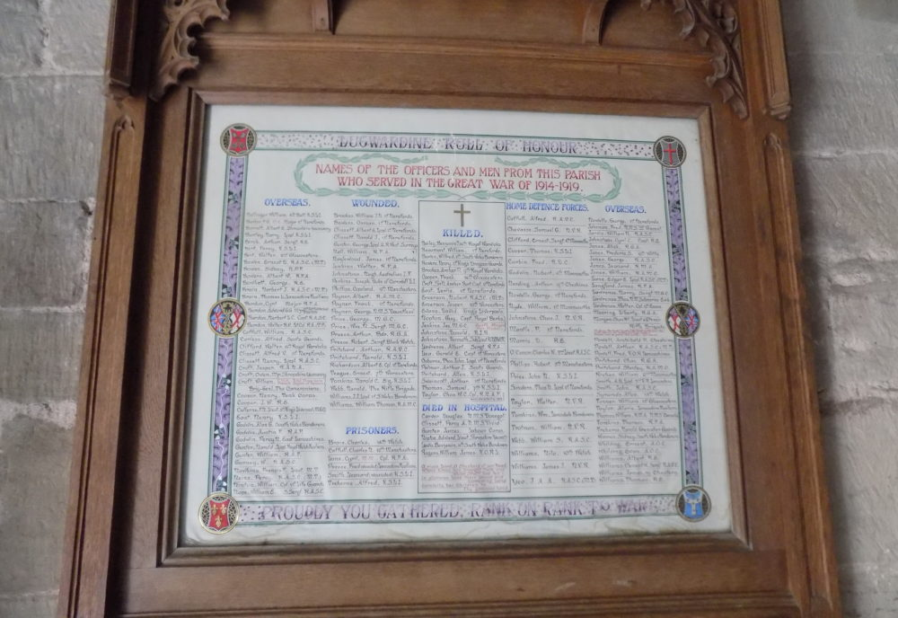 Lugwardine Roll of Honour