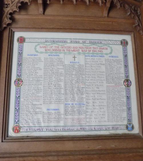 Lugwardine Roll of Honour