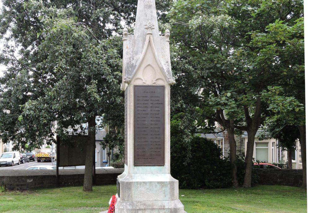 Figure 1 Porthcawl war memorial south face