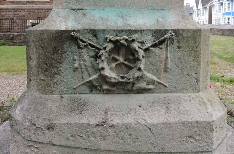 Figure 2 Porthcawl war memorial emblem north face