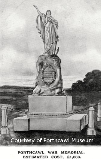 Figure 3 Proposed war memorial for Porthcawl