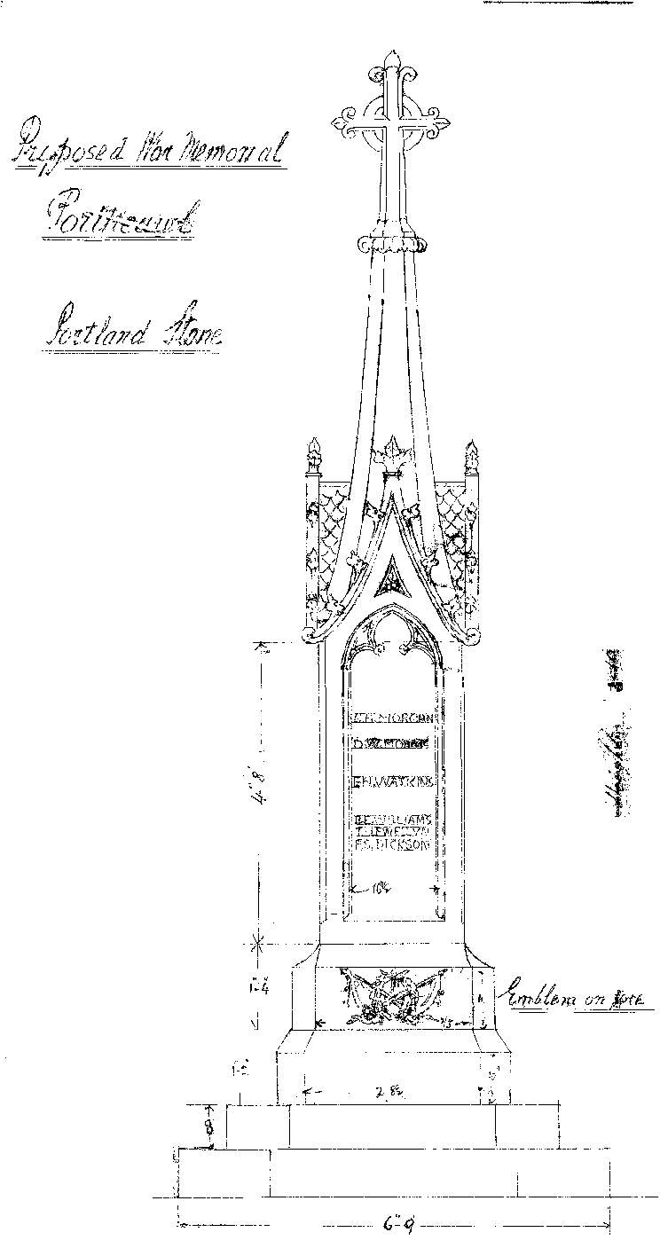 Figure 4 W Clarke Design Drawing Porthcawl war memorial