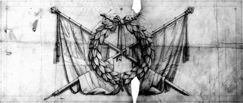 Figure 5 design drawing of emblem on porthcawl warmemorial