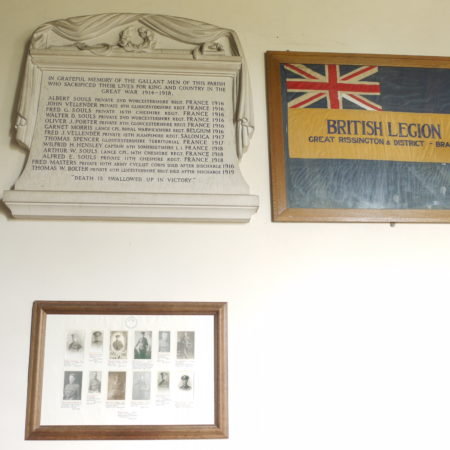 Great Rissington: memorial and notes