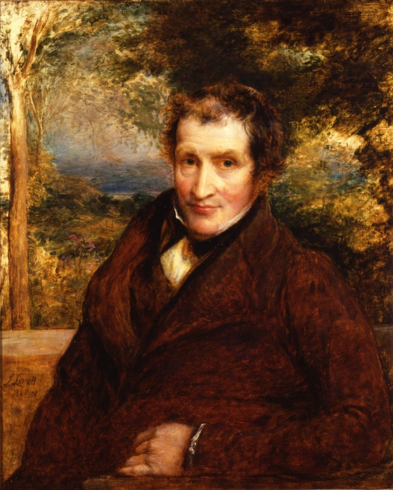 Portrait in oils, 76.2 x 63.5 cms, of John Claudius Loudon, paint - ed 1840-41, by John Linnell (1792-1882)