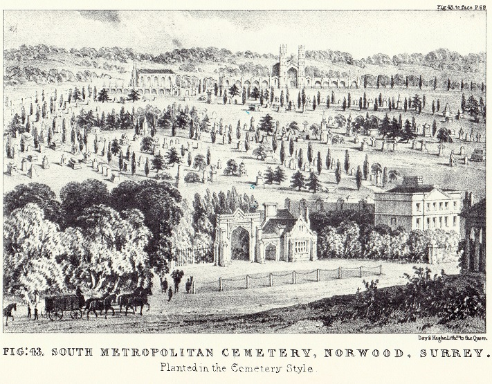 The South Metropolitan Cemetery, Norwood, Surrey, 'Planted in the Cemetery Style'.