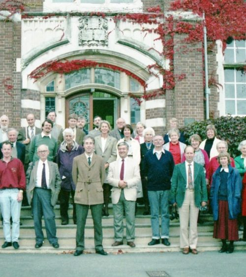 Brian Kemp (centre) at the Newton Abbot symposium in 1992