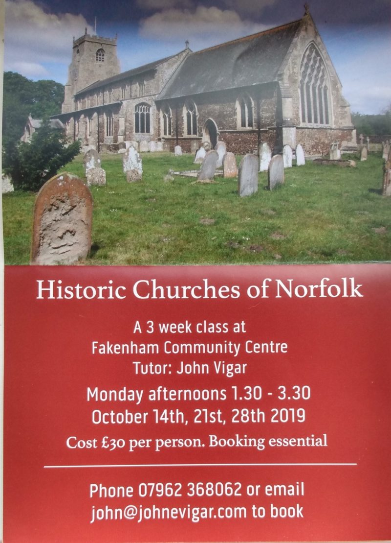 norfolk churches course