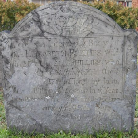 Elizabeth Phillips, d. 1761, Midwife, Charlestown, MA, Phipps St. Burying Gd, (Lamson shop/attrib., photo, DL)