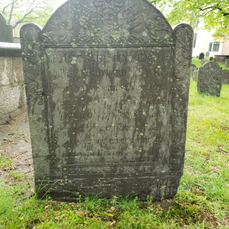 Margaret Holyoke, d. 1740, Old Cambridge Burying Gd, Cambridge, MA, (N. Lamson)/DL attrib, photo)