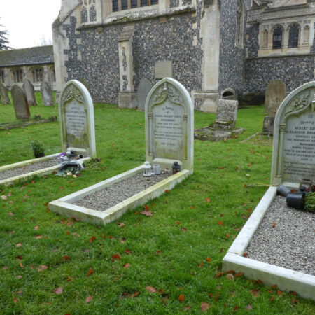 Fig1Graves of Maharajah Duleep Singh his wife and their son in Elveden churchyard