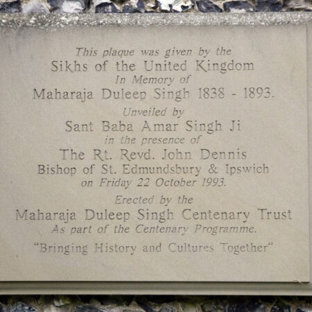 Fig2Commemorative plaque for the centenary of Duleep Singh at Elveden