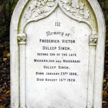 Fig3Grave of Prince Frederick Duleep Singh in BoNorton churchyard