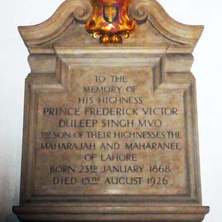 Fig4Memorial to Prince Frederick Duleep Singh in BloNorton church