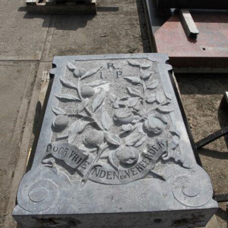 Fig 4 Stele during restoration