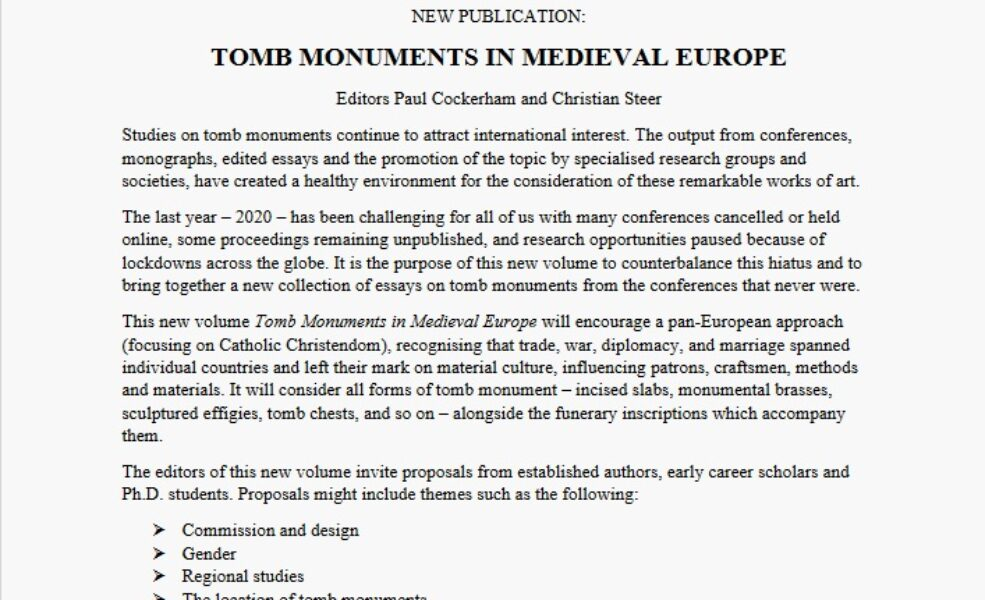 Tomb monuments cfp
