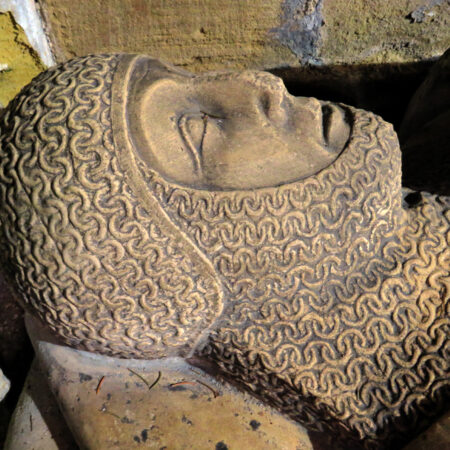 Knight at Felixkirk with mail clad skull cap