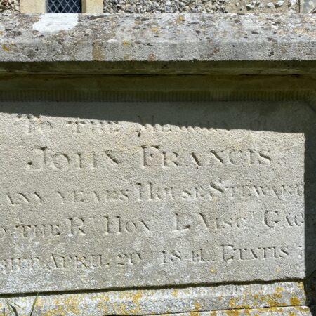 francis tomb detail