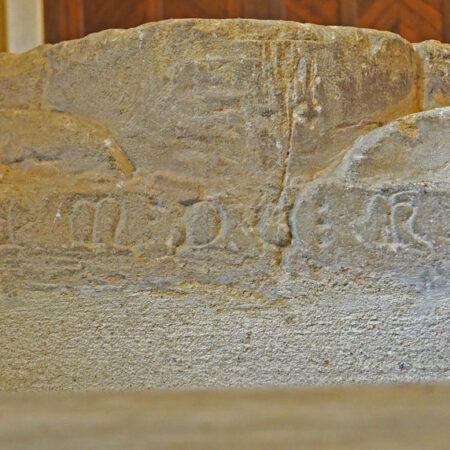 Figure 3 Inscription at head end of effigy